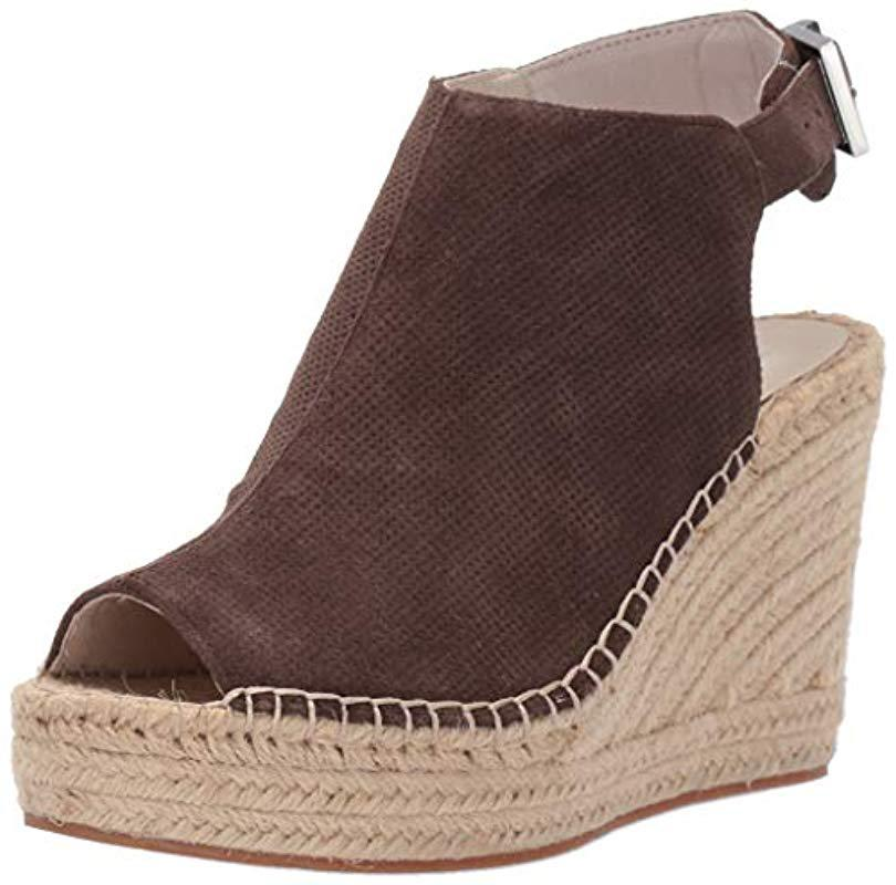 44f7f42b1d80 Lyst - Kenneth Cole Olivia 2 Perf Espadrille Wedge Sandal in Brown