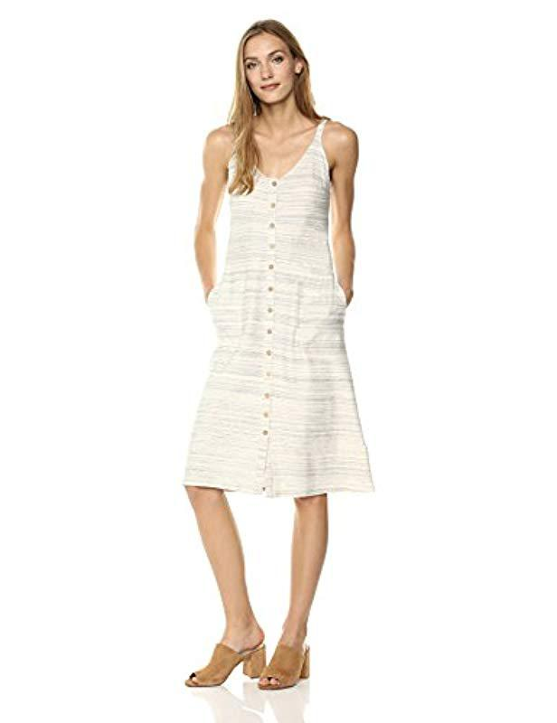 52c83b38b5 Lucky Brand Button Up Knit Dress In Natural Multi in Natural - Save ...
