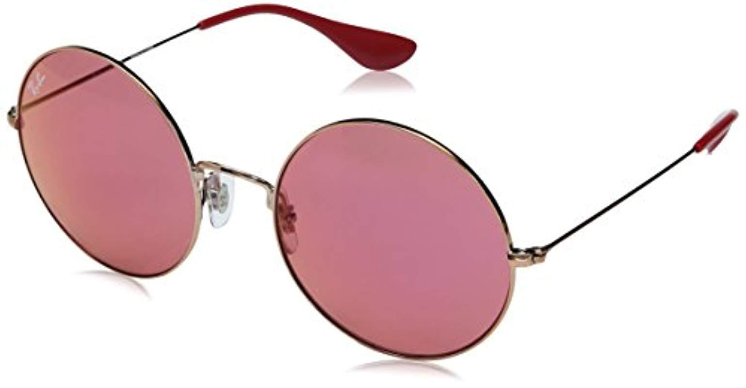 0adf072d3e6 Lyst - Ray-Ban Ja Jo Metal Round Sunglasses In Shiny Copper Red ...