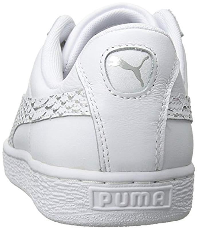 2c189b5a9d8 PUMA - White Basket Heart Oceanaire Wn Sneaker - Lyst. View fullscreen