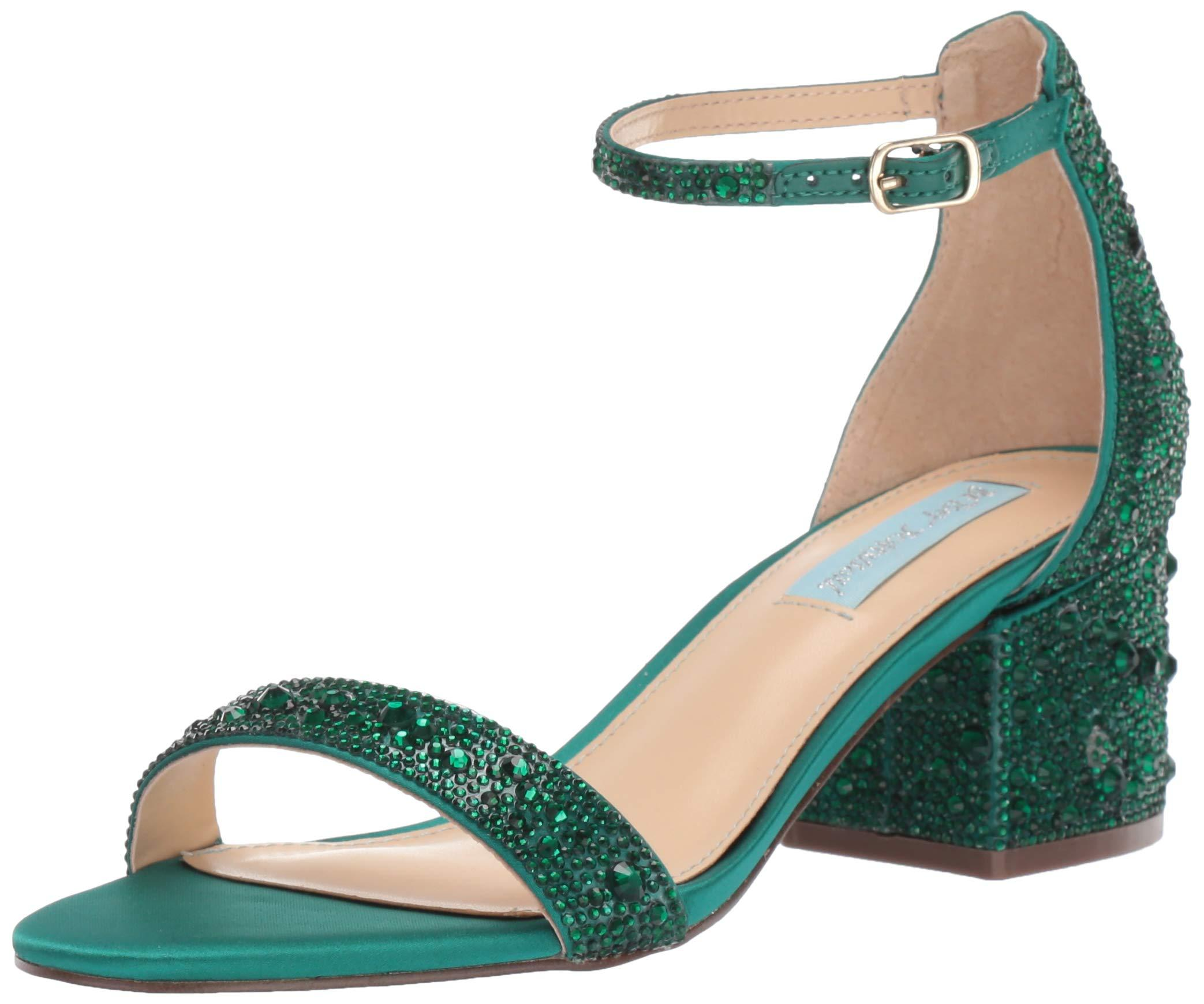 Betsey Johnson Blue Sb-rina Heeled Sandal - Lyst