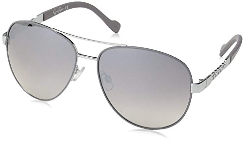 17cee3d009f Sam Edelman. Women s Metallic Jessica Simpson J5359 Slvgy Non-polarized  Iridium Aviator Sunglasses