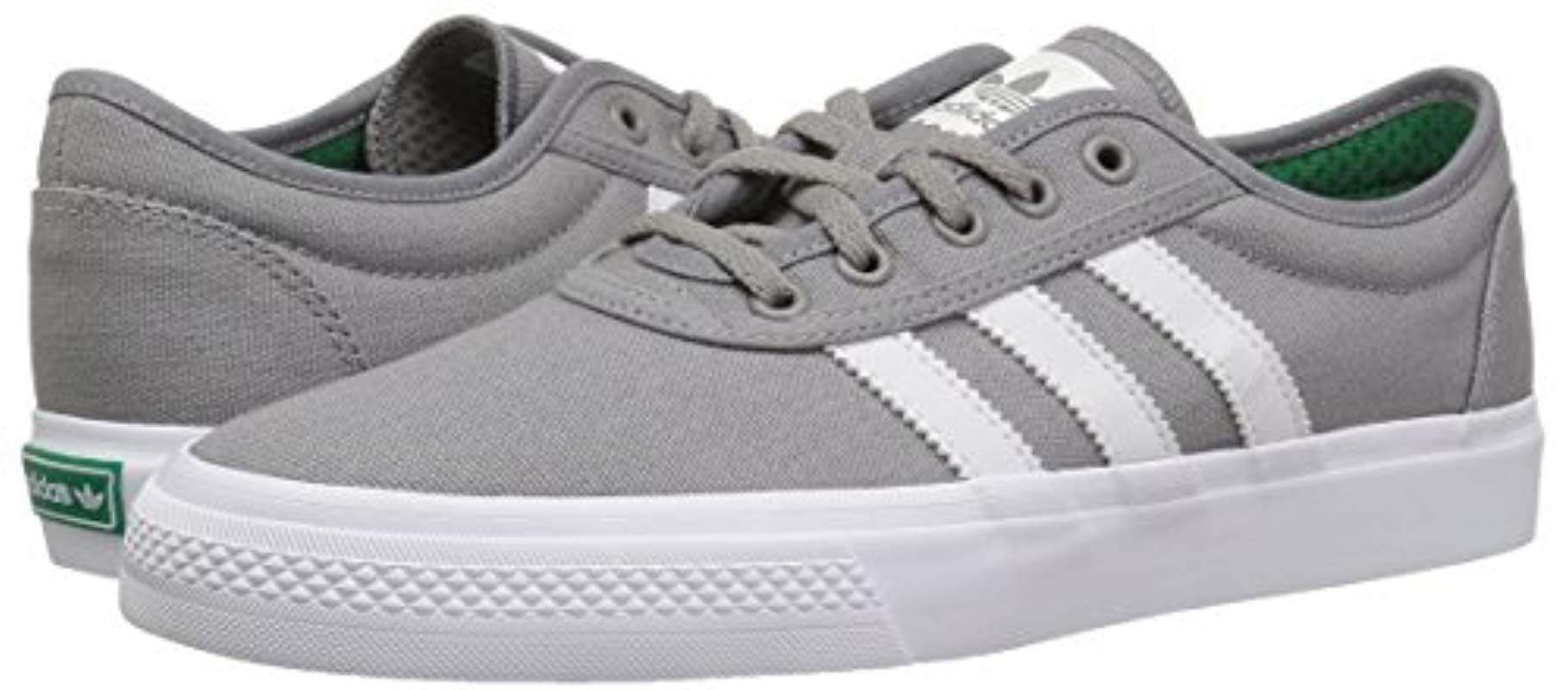 Adi-ease Skate Shoe, Solid Grey/crystal White, 6.5 M Us