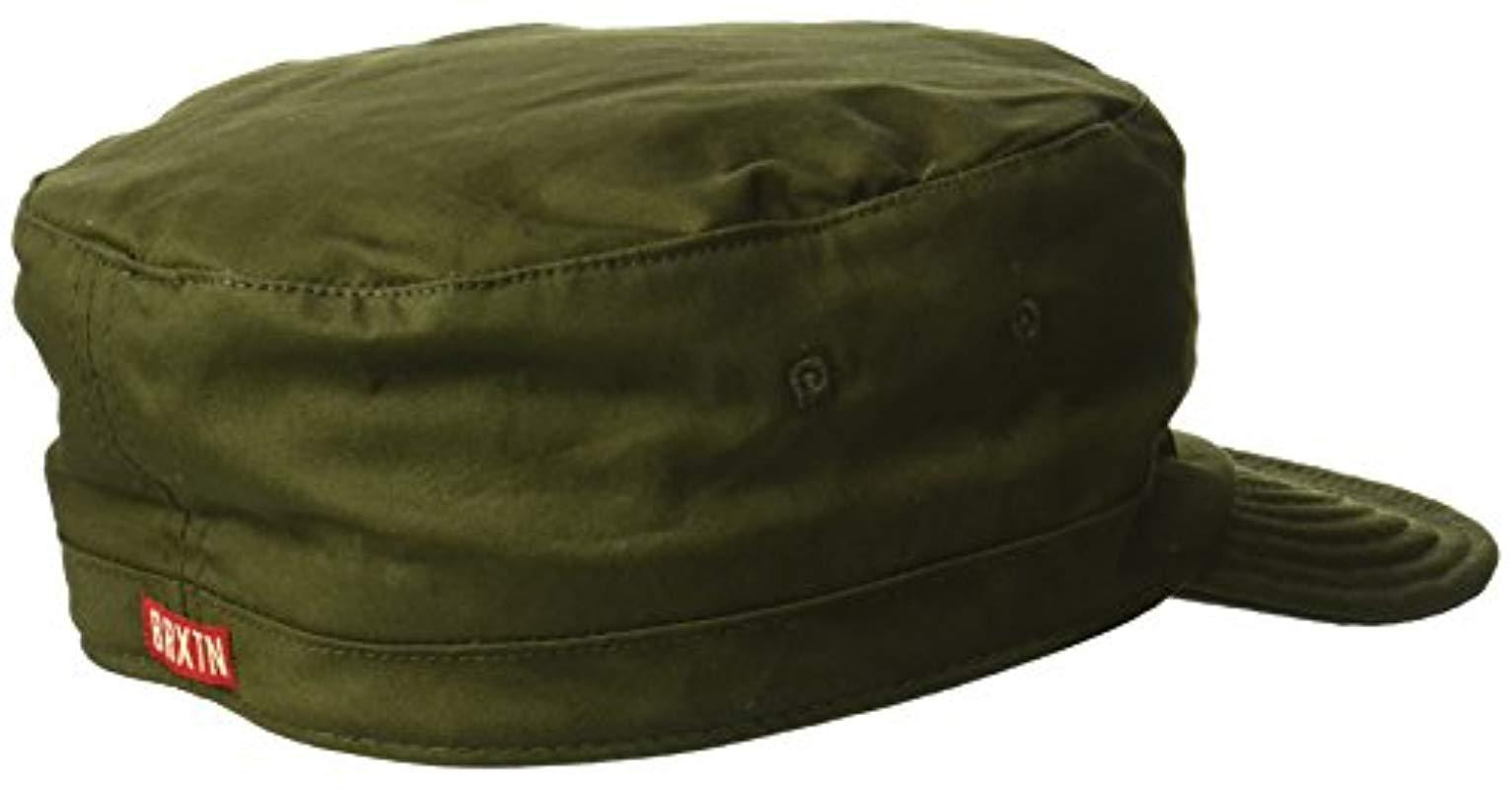 Lyst - Brixton Brigade Unstructured Military Style Hat in Green for Men 01fa4e54cf7