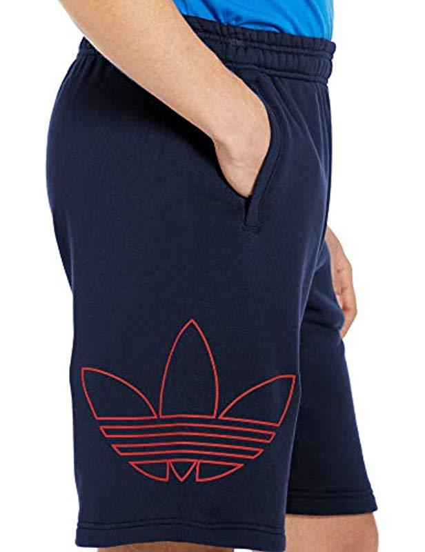 3b85fb775590e Lyst - adidas Originals French Terry Outline Shorts in Blue for Men