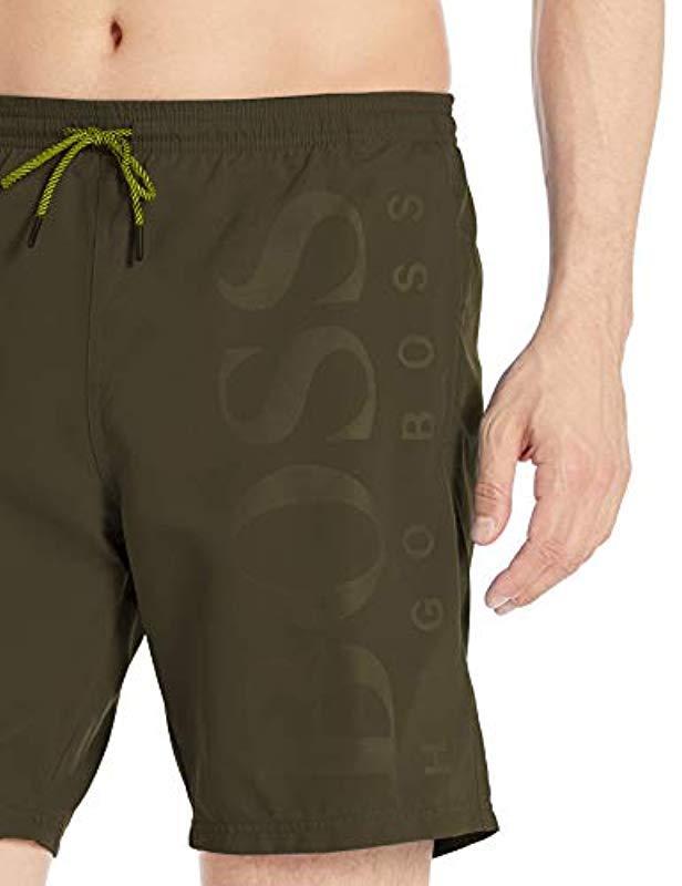 c68d0feea8 Lyst - BOSS Orca Swim Trunk in Green for Men