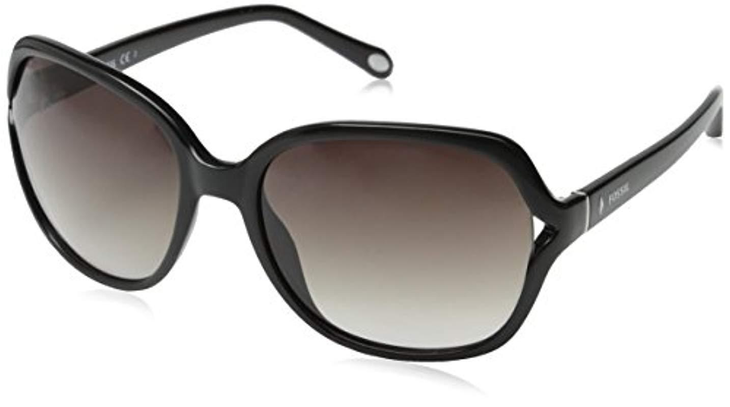 1201f0b1b6 Lyst - Fossil Fos3004s Square Sunglasses in Black - Save 40%