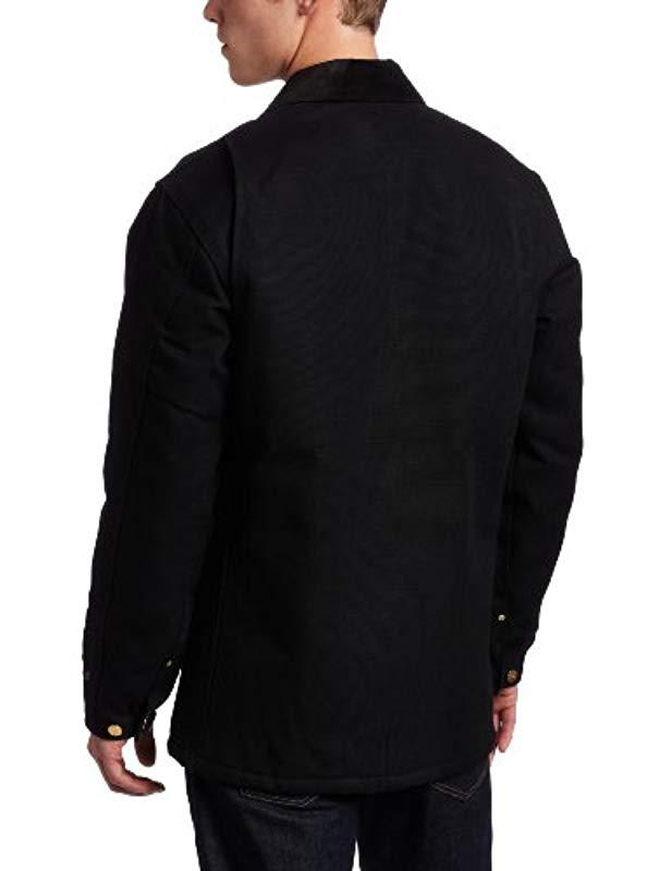 6891b78c78 Carhartt - Black Big & Tall Duck Chore Coat Blanket Lined C001 for Men -  Lyst. View fullscreen