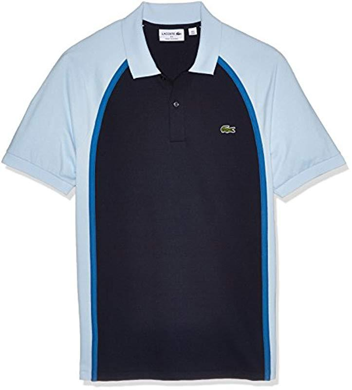 168ff89dc Lacoste. Men's Blue Short Sleeve Made In France Pique Reg Fit Polo, Ph3210
