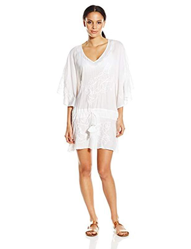 d6c0f4b4b6508 Lyst - ViX Solid White Vintage Tunic Cover Up in White