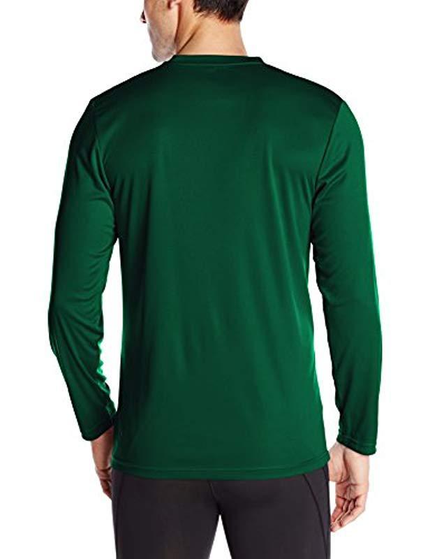 Men's Green Long Sleeve Performance T-shirt
