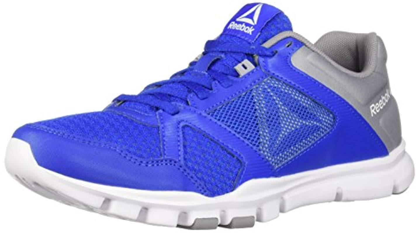 Lyst - Reebok Yourflex Train 10 Cross Trainer in Blue for Men c634816de