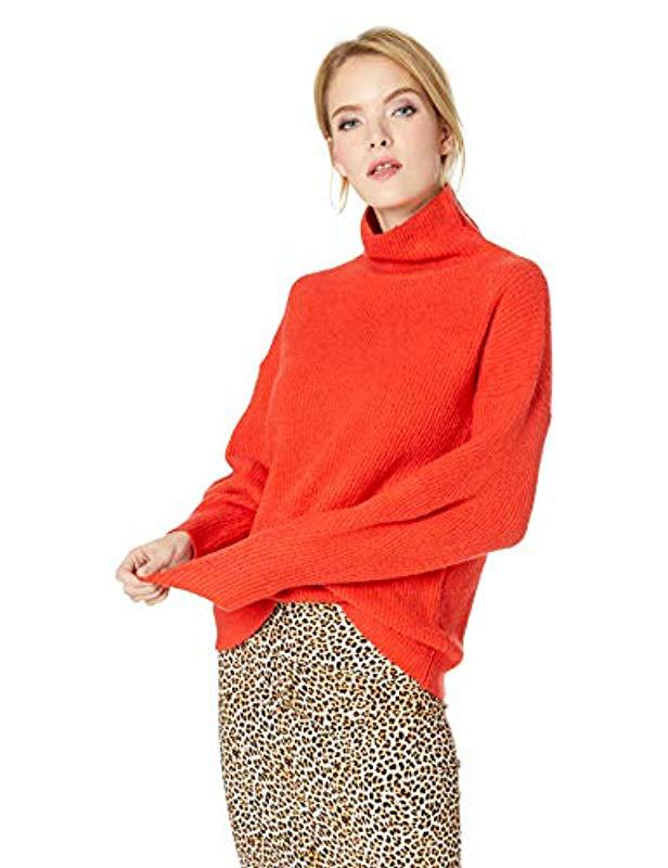 0b931b482 Lyst - French Connection Flossy Long Sleeve Loose Fit Solid Pullover ...