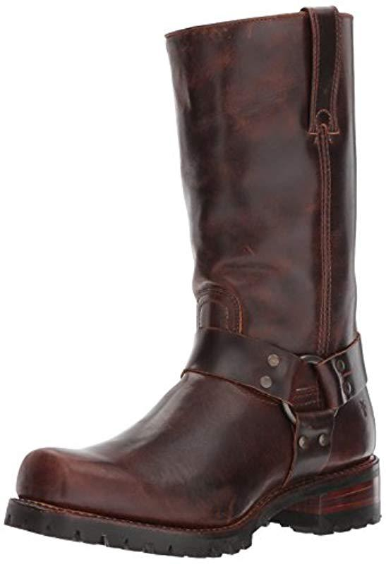 0592b820c0c Frye. Addison Lug Harness 12r (dark Brown Smooth Pull Up) Men s Pull-on  Boots