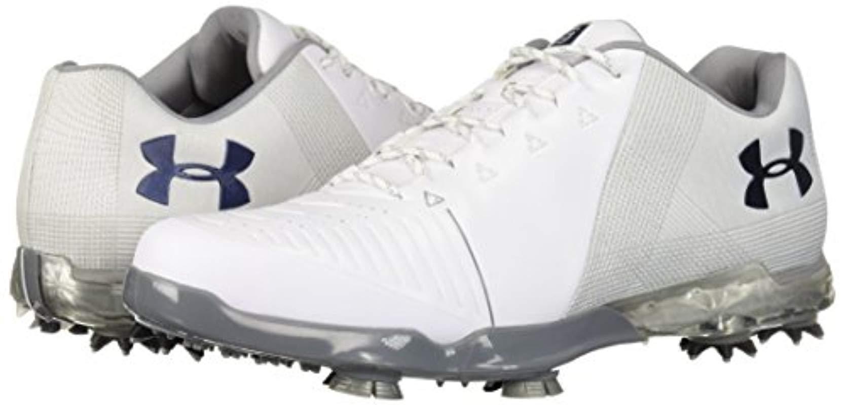 238b8295a25f5 Men's Metallic 2018 Ua Spieth 2 Waterproof S Spikes Golf Shoes