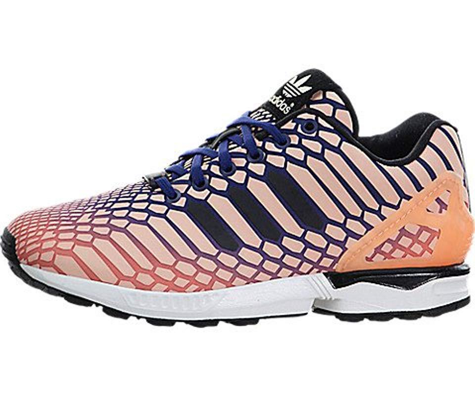 716a72b0bca55 Lyst - Adidas Originals Zx Flux W Running Shoe in Blue