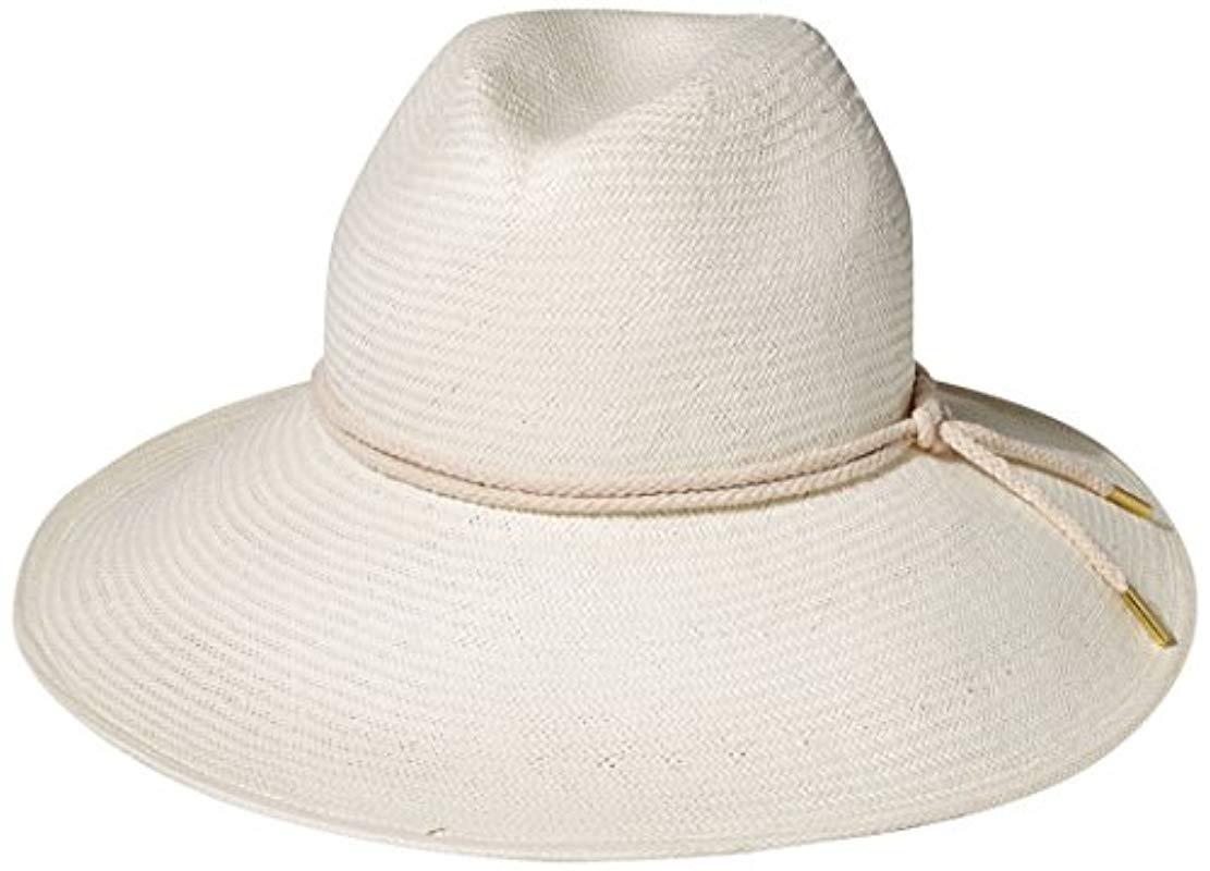 Gottex. Women s White Deauville Panama Sunhat Packable ... 22201223f2d6