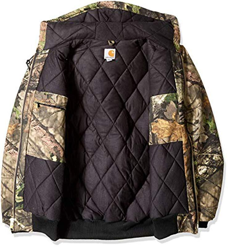a86895bda53ea Carhartt - Green Big & Tall Quilted Flannel Lined Camo Active Jac for Men -  Lyst. View fullscreen