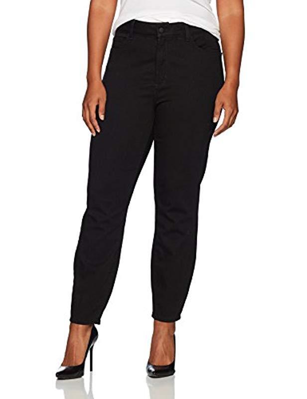 58d996a708e2b NYDJ. Women's Plus Size S Plus Size Alina Ankle Jeans In Luxury Touch Denim  In Black ...