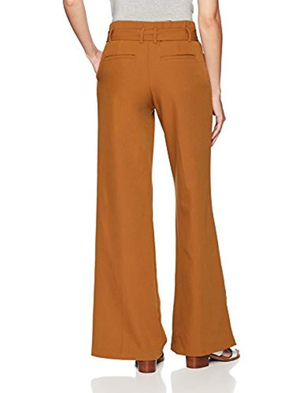 f4ad3892486 Lyst - Lee Jeans Flex Motion Regular Fit Wide Leg Self Tie Pant in Brown