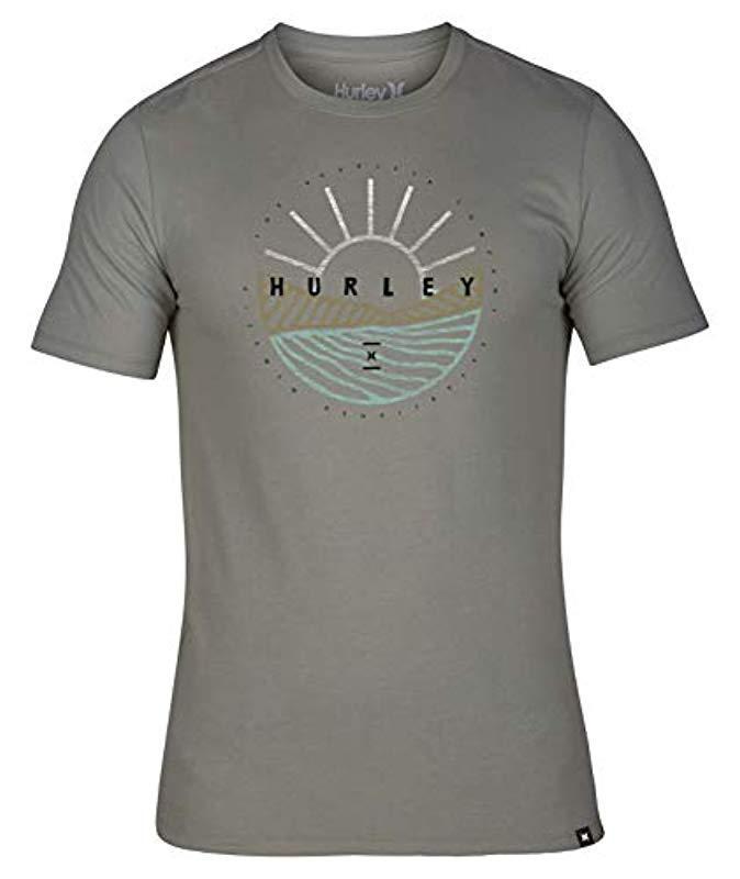 afc1d206 Hurley - Gray Nike Dri-fit Premium Short Sleeve Tshirt for Men - Lyst. View  fullscreen