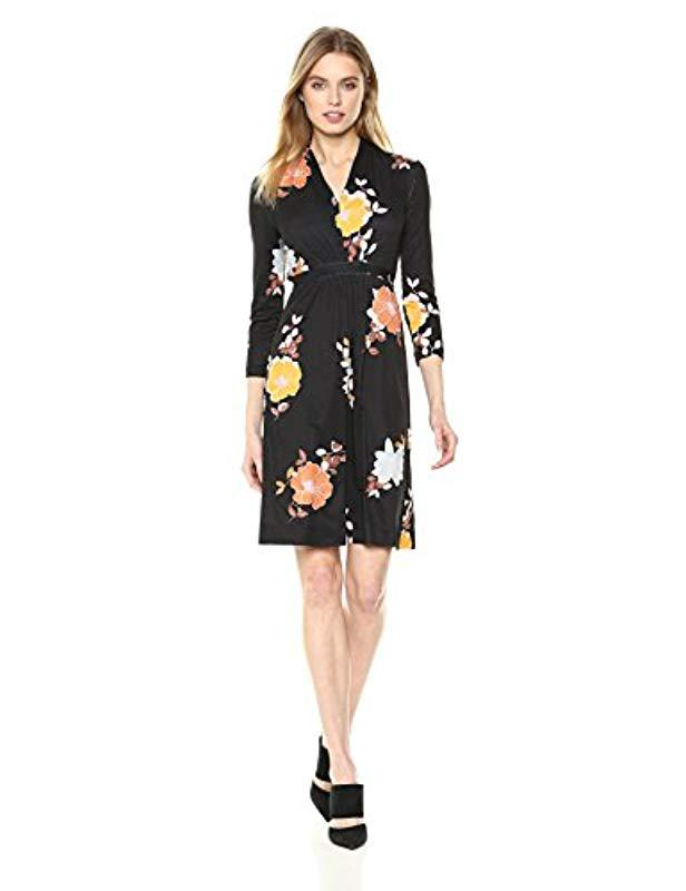 Lyst French Connection Shikoku Jersey Floral Printed Long Sleeve
