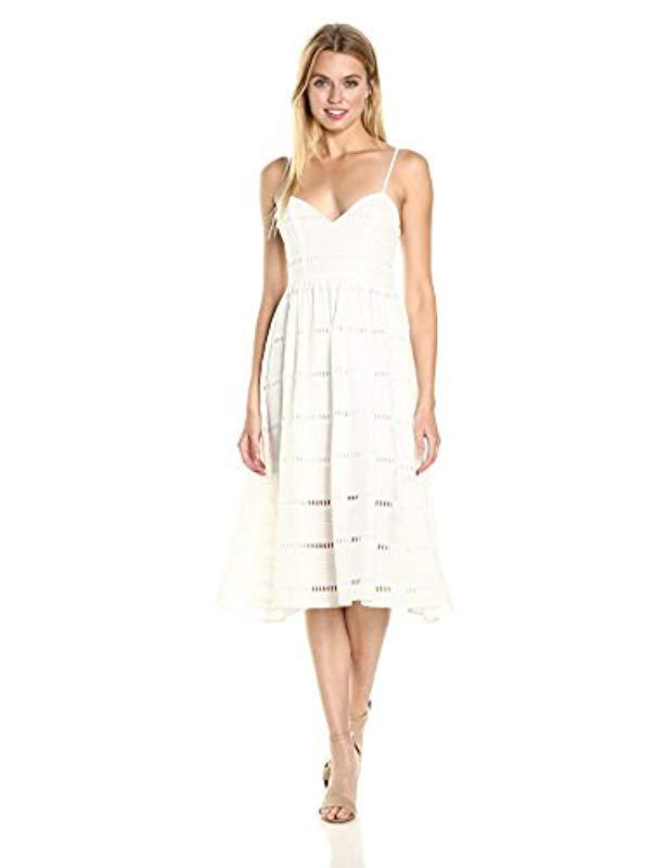 b584f5c551 Lyst - Cynthia Rowley Eyelet Lace Dress in White