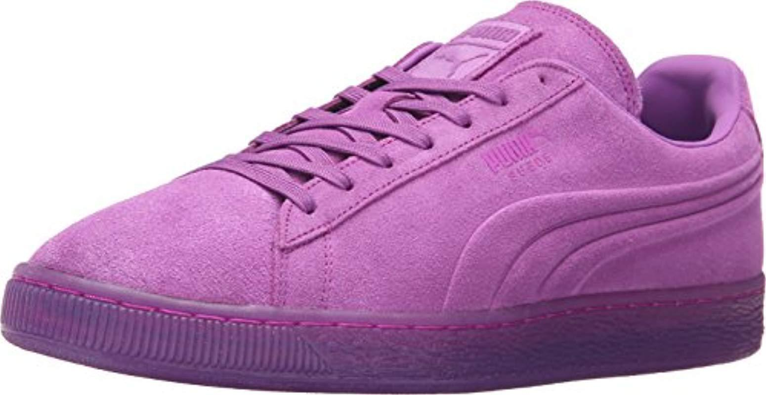 f55d3e5d100 Lyst - Puma Suede Emboss Iced Fluo Fashion Sneaker in Purple for Men ...