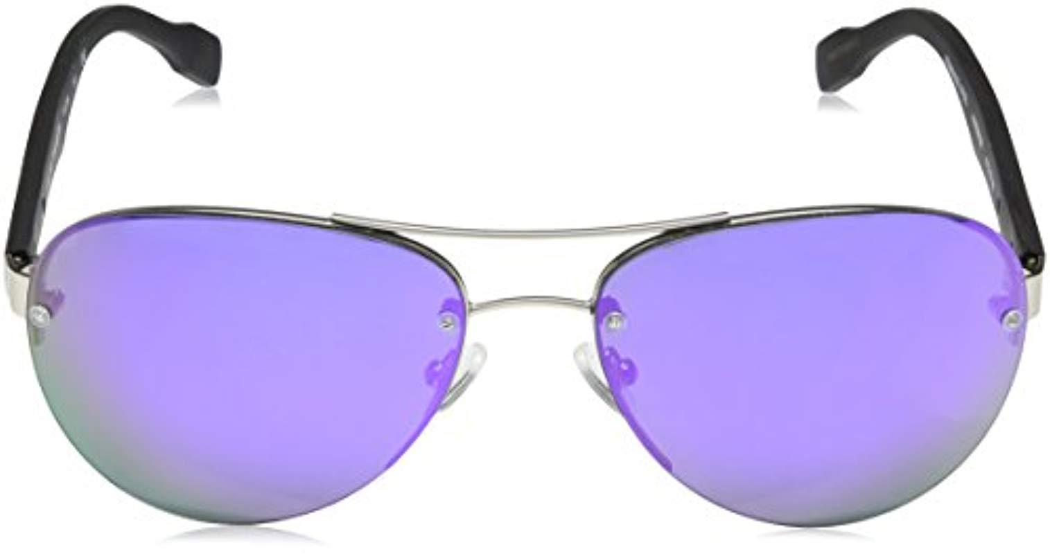 bc07f606789 Lyst - Elie Tahari El 206 Slv Aviator Sunglasses in Metallic - Save 75%
