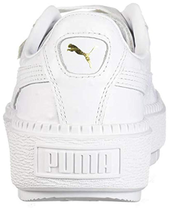f72948a1db7 Lyst - PUMA Platform Trace Ostrich Sneaker in White - Save 14%