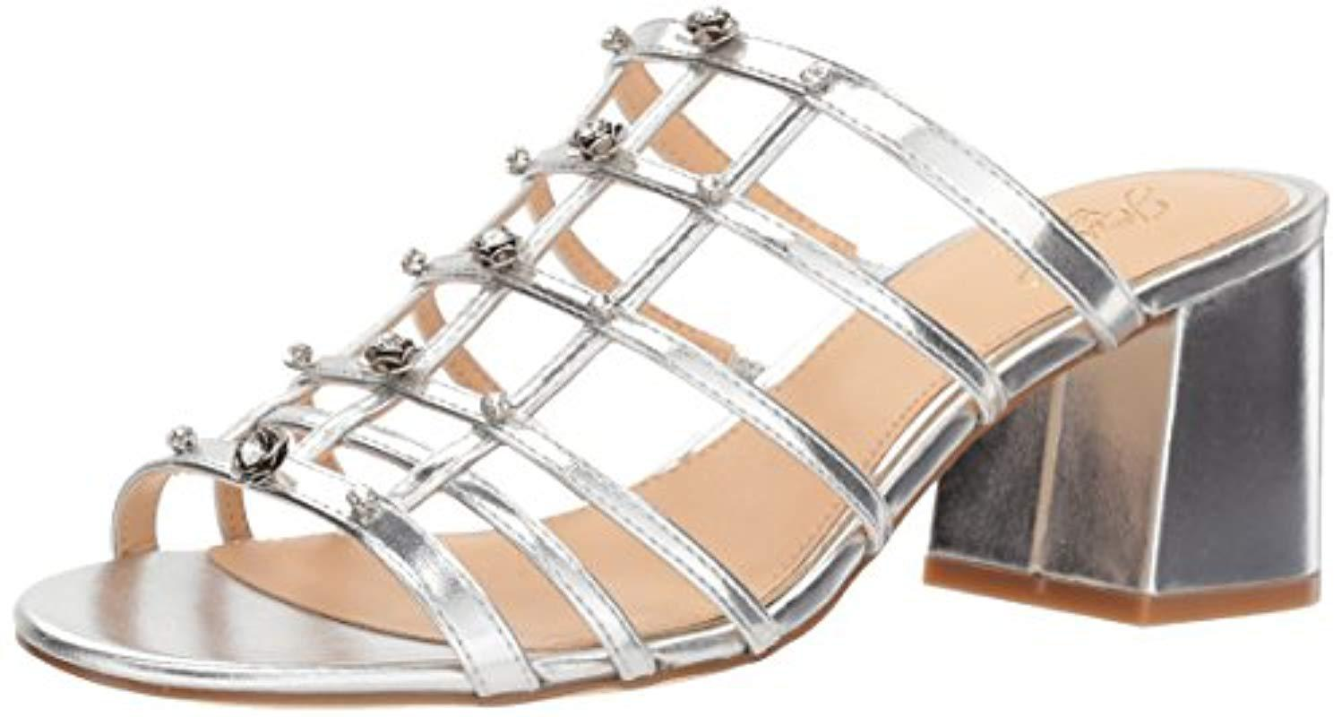 8963c3c7e79 Lyst - Badgley Mischka Jewel Thorne Slide Sandal in Metallic - Save 74%
