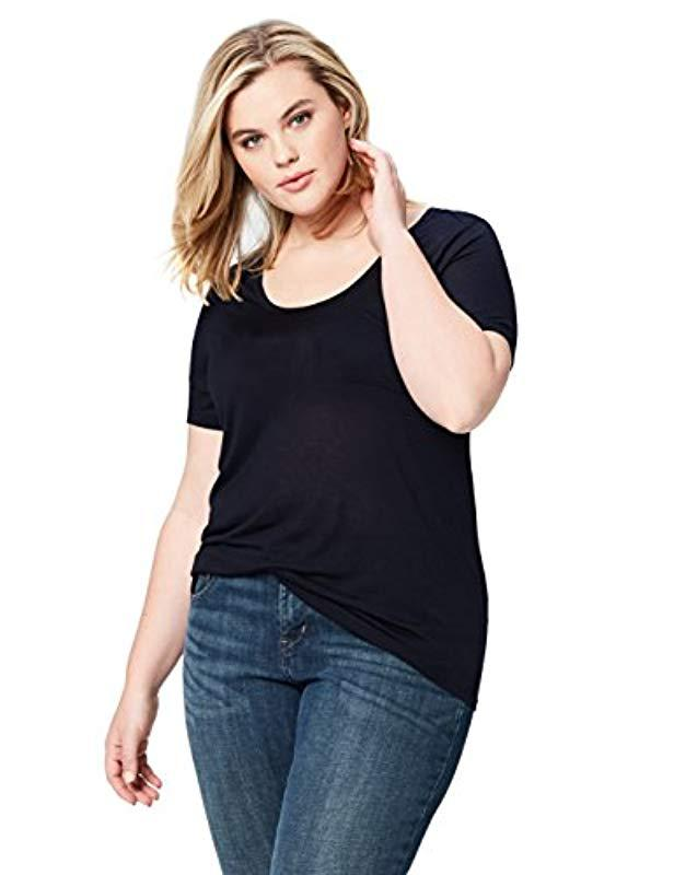 8c2cb0cb3 Daily Ritual. Women's Blue Plus Size Super Soft Modal Semi-sheer Pocket ...