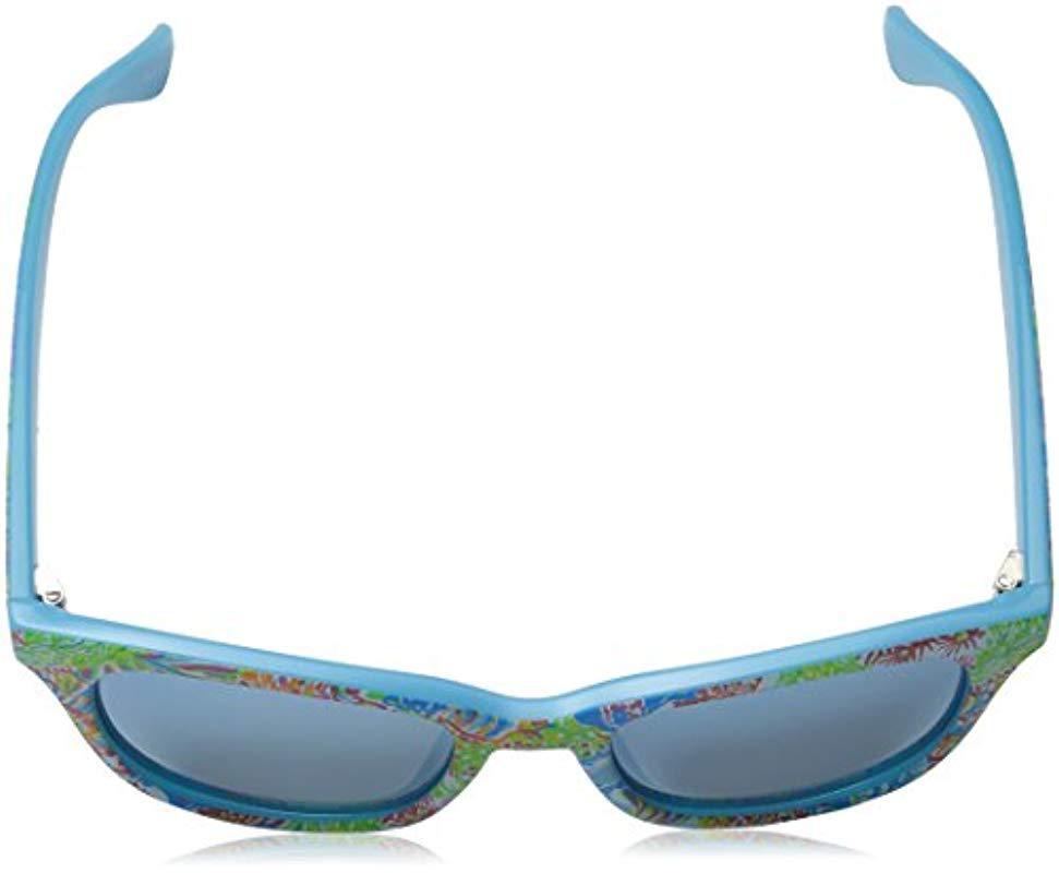 68556e4983 Lilly Pulitzer - Blue Maddie Mddelc52 Polarized Wayfarer Sunglasses - Lyst.  View fullscreen