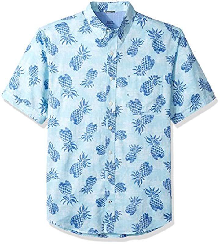 de35051f Lyst - Izod Big & Tall Saltwater Chambray Short Sleeve Shirt in Blue ...