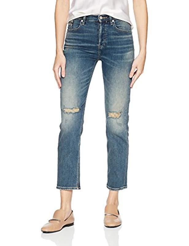3ac258380ed27 Lyst - Calvin Klein High Rise Ankle Skinny Denim Jean in Blue - Save 71%