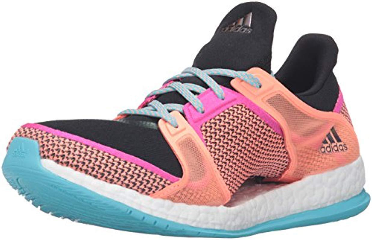 d7e3a990460a3 Lyst - adidas Performance Pureboost X Training Shoe in Pink - Save 19%