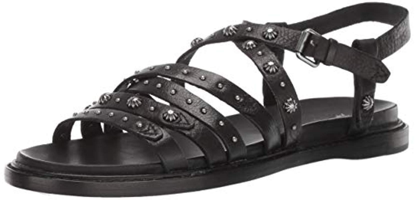 6a025981b8 Frye Andora Deco Strappy Sandal Flat in Black - Save 13% - Lyst