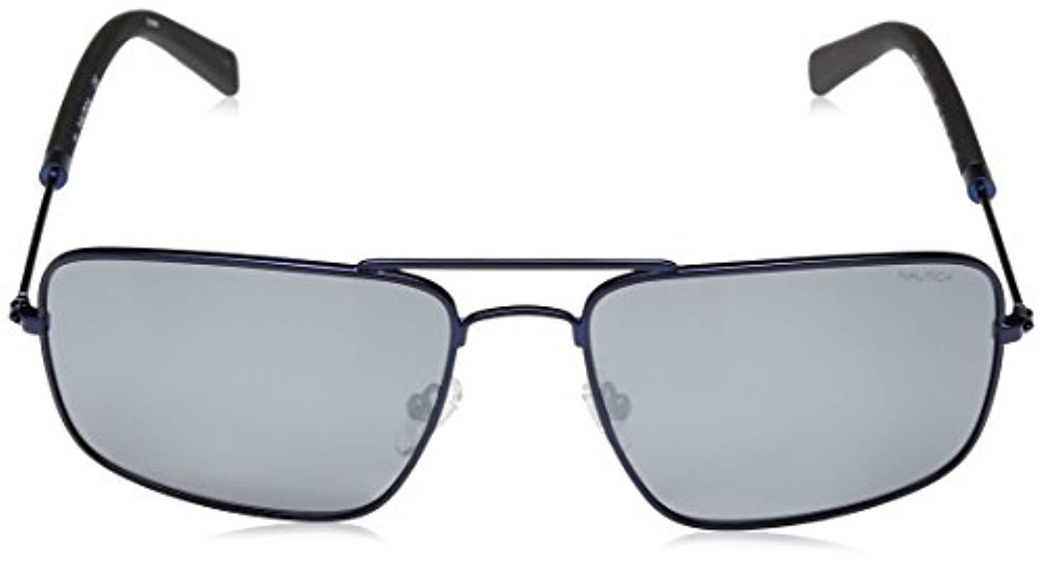 28ef9a07cb Nautica - Blue N4632sp Polarized Aviator Sunglasses Navy 59 Mm for Men -  Lyst. View fullscreen