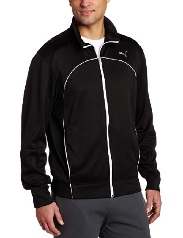 75eeb78bf64e Lyst - PUMA Performance Track Jacket in Black for Men