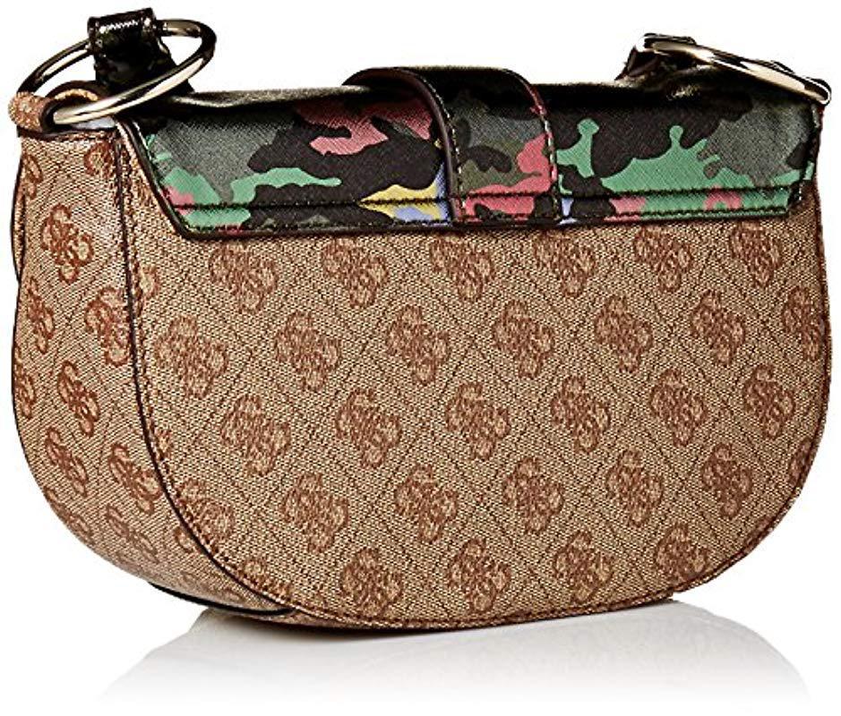 2b82adb50f Guess - Multicolor Florence Shoulder Bag Cmo - Lyst. View fullscreen
