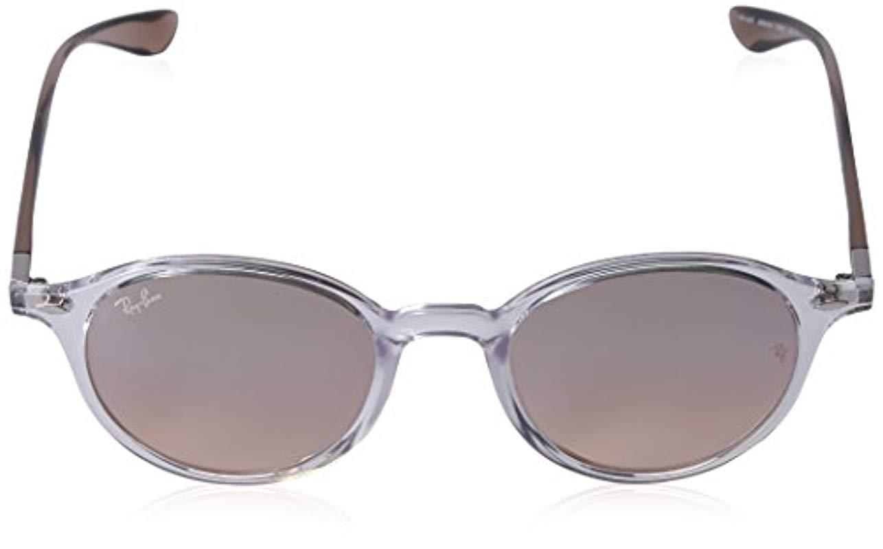 fe174c3ce1 Ray-Ban - Multicolor Tech Liteforce Round Flash Sunglasses - Lyst. View  fullscreen