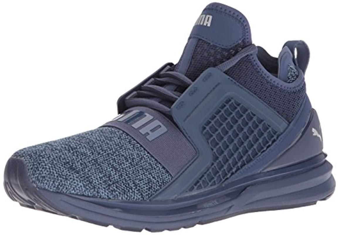 Lyst - PUMA Ignite Limitless Knit Sneaker in Blue for Men - Save 51% 879349da1