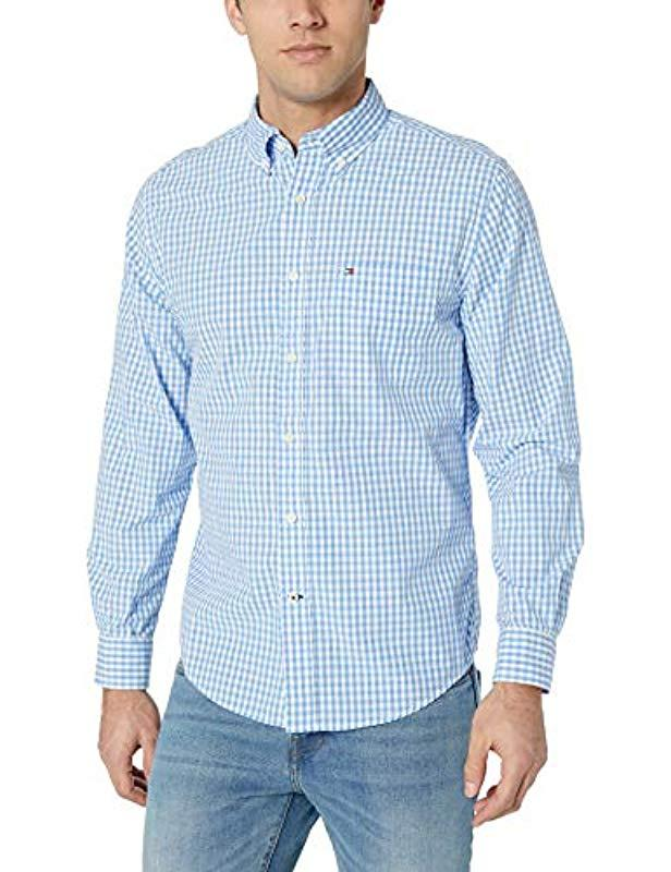 785fff4e8 Lyst - Tommy Hilfiger Long Sleeve Button Down Shirt In Classic Fit ...