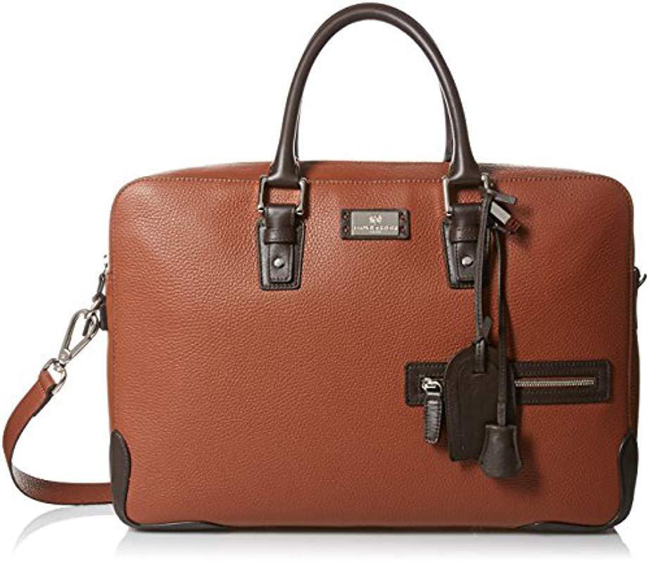 1a304d7470d Bruno Magli - Brown Italian Leather Bag for Men - Lyst. View fullscreen