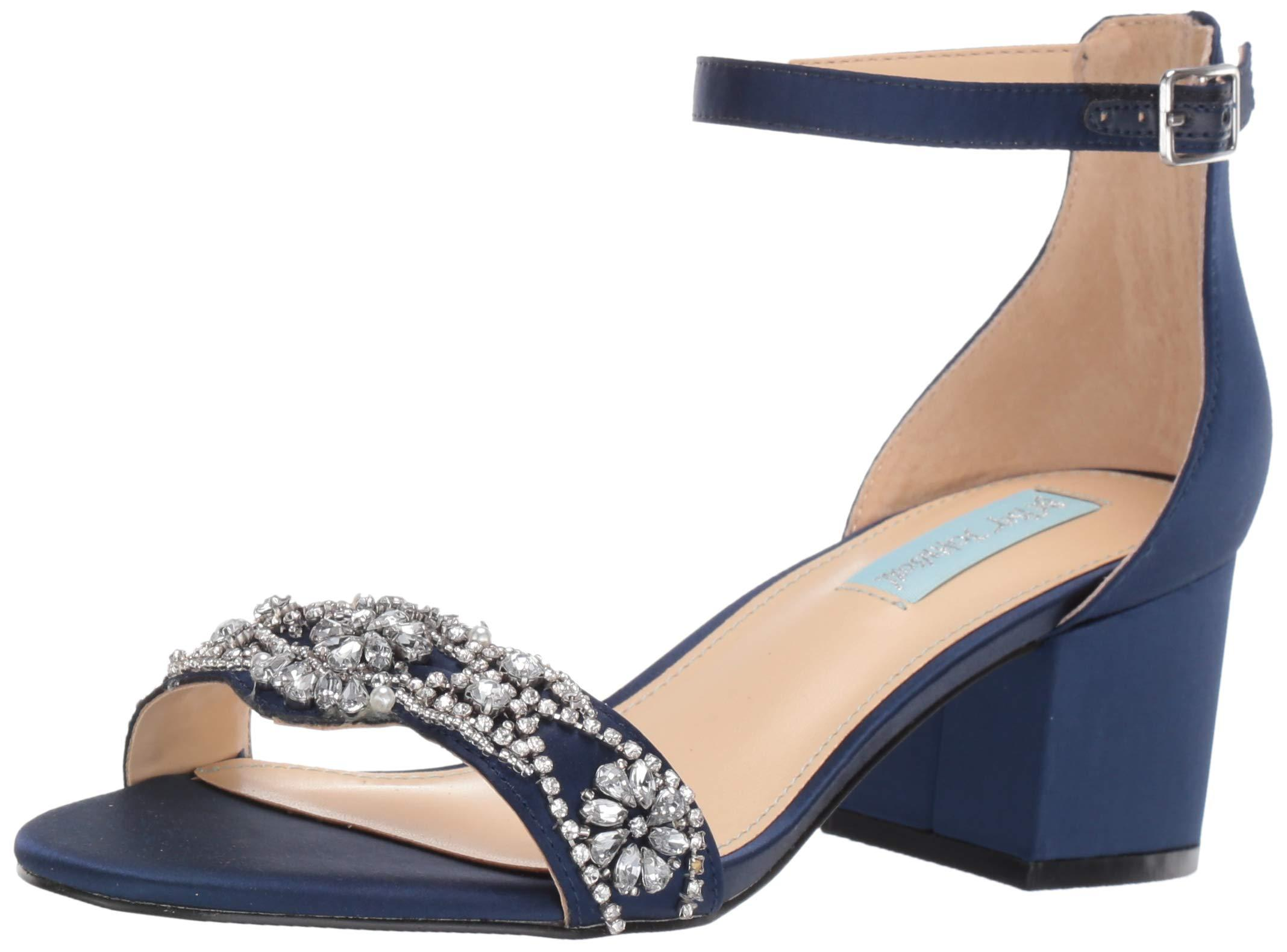 Blue by Betsey Johnson Womens Sb-Brie Heeled Sandal, Pale