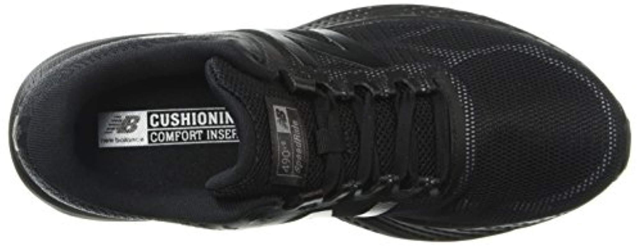 87dc57942559f New Balance 490v6 Cushioning Running Shoe, Black, 5.5 D Us