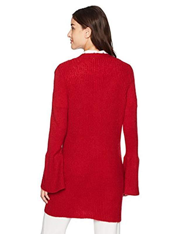 KENSIE NEW Women/'s Ribbed Bell Sleeves Cardigan Sweater Top TEDO