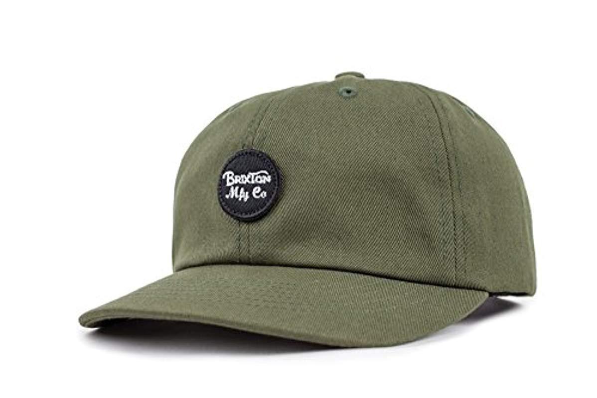 2b88d6572d2 Lyst - Brixton Wheeler Low Profile Adjustable Hat in Green for Men ...
