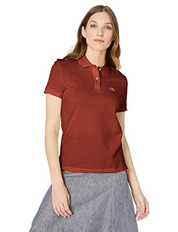 5491a7424 Lyst - Lacoste Classic Fit Short Sleeve Polo in Red