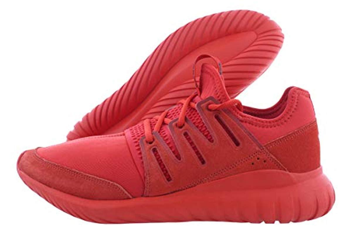 official photos 2d5b2 dd9c7 Adidas Originals Red Tubular Radial Fashion Sneaker for men